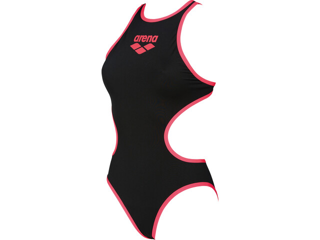 arena One Biglogo Badpak Dames, black-fluo red